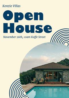 Blue & Cream Open House Flyer A5 Open House Flyer