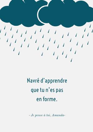 under the weather get well soon cards  Carte de bon rétablissement