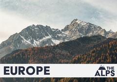 The Alps Europe Postcard Mountains