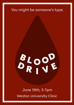 Blood Drive Flyer Health Posters