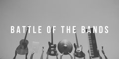Grey and White Minimalistc Music Battle Facebook Banner Band