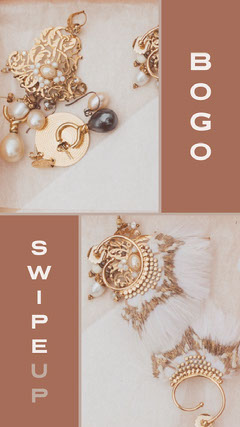 Brown and Gold Jewelry Store Instagram Story Ad Jewelry