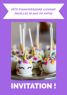 cake pops unicorn birthday cards Carte d'anniversaire