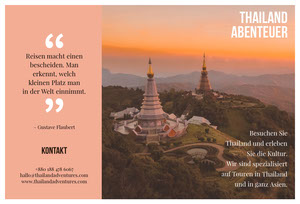 Thailand adventures travel brochures  Web-Seite