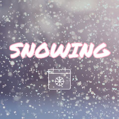 White Winter Snowfall Square Instagram Social Post Graphic Winter
