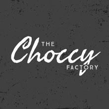 Gray and White Chocolate Shop Logo Logo