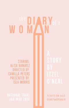 Pink The Diary of a Woman Play Opening Poster Play Poster