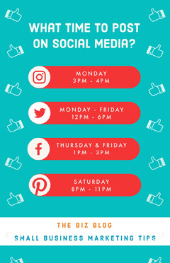 social media posting infographic Social Media Flyer