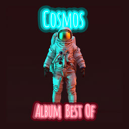 Neon Pink and Blue Astronaut Album Cover