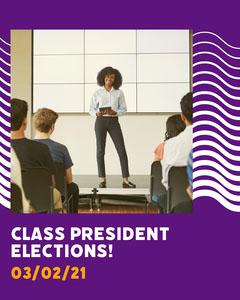 Purple Class President Elections Instagram Portrait Voting
