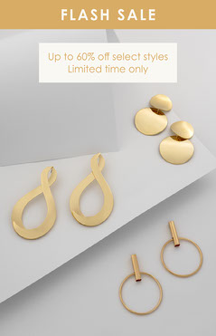 White and Gold Classic Elegant Sale Announcement Jewelry