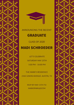 GRADUATE <BR>MADI SCHROEDER Back to School
