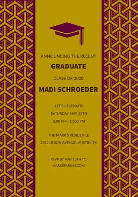 GRADUATE <BR>MADI SCHROEDER Graduation Invitation