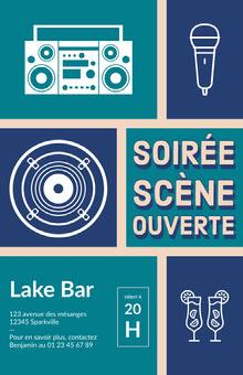 open mic night poster Affiche