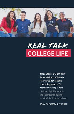 Dark Blue College Life Lecture Flyer Flyer