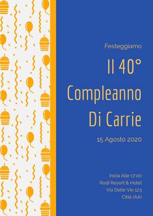Il 40° <BR>Compleanno <BR>Di Carrie  Invito a una festa