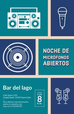 open mic night poster Octavilla