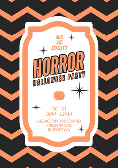 Halloween Horror Party Invitation Stars