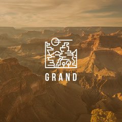 White With Grand Canyon Instagram Graphic Desert