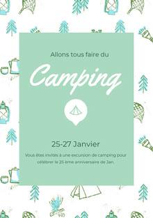 Camping<BR> Invitation