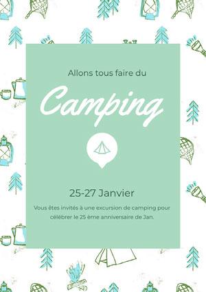 Camping<BR> Invitation à une fête