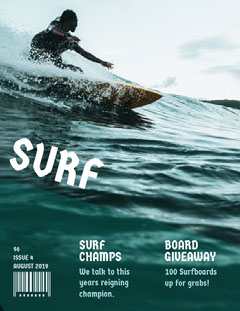 Green and White Surf Magazine Cover Giveaway