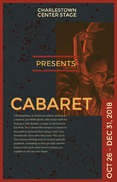 Blue and Yellow Cabaret Poster Play Poster
