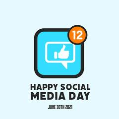 Blue Social Media Day Instagram Square Social Media Flyer