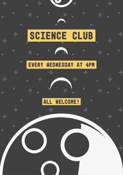 Science Club Welcome Poster