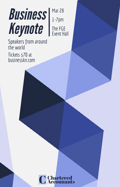 Blue Geometric Business Event Flyer Conference Flyer
