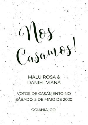 black and white textured wedding announcements  Anúncio de casamento