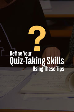 Quiz Tips Pinterest Graphic with Student Photo Quiz Night Poster