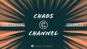 Orange White and Black Chaos Channel Banner 배너