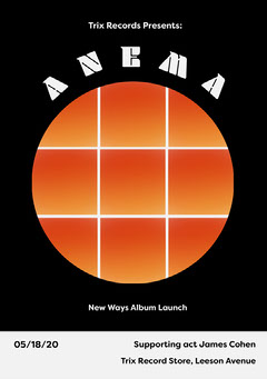 Black and Orange Circle Grid Album Release Concert Flyer Launch