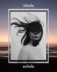 Inhale/Exhale Instagram Portrait  Sunset