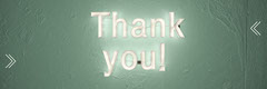 White and Green Thank You Banner Thank You Poster