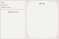 White Traditional Classic Recipe Card Recipes