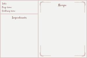 White Traditional Classic Recipe Card Recetas