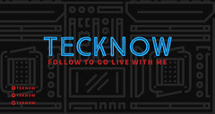 Blue and Black Technology Twitch Banner Tech