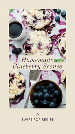 Blueberry Scone Recipe Instagram Story Instagram Post