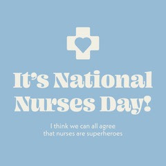 Light Blue National Nurses Day Card Holiday Party Flyer