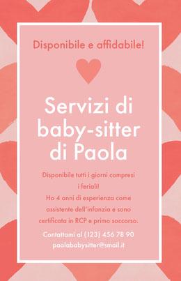 Servizi di<BR>baby-sitter <BR>di Paola Volantino