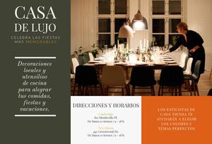 CASA <BR>DE LUJO Folleto