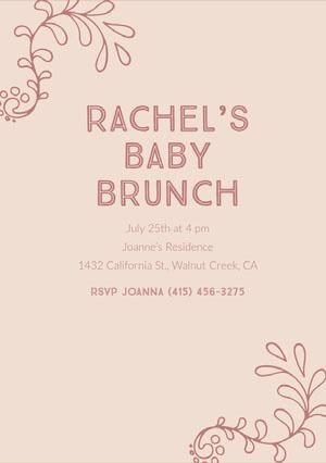 Rachel's Baby Brunch