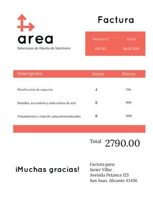 interior design invoice  Factura