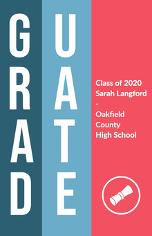 Pink White and Blue Graduation Poster School Posters