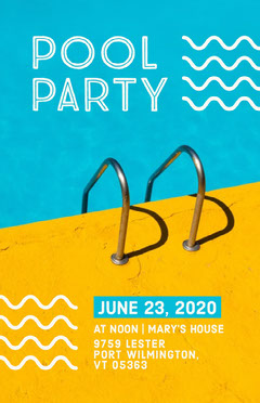 Pool Party Flyer Party