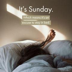 It's Sunday. Sunday