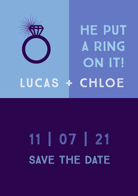Lucas + Chloe Save the Date Card