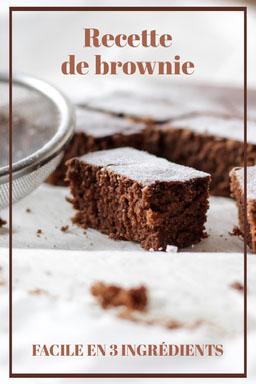 brown frame Brownie Recipe - Pinterest Post